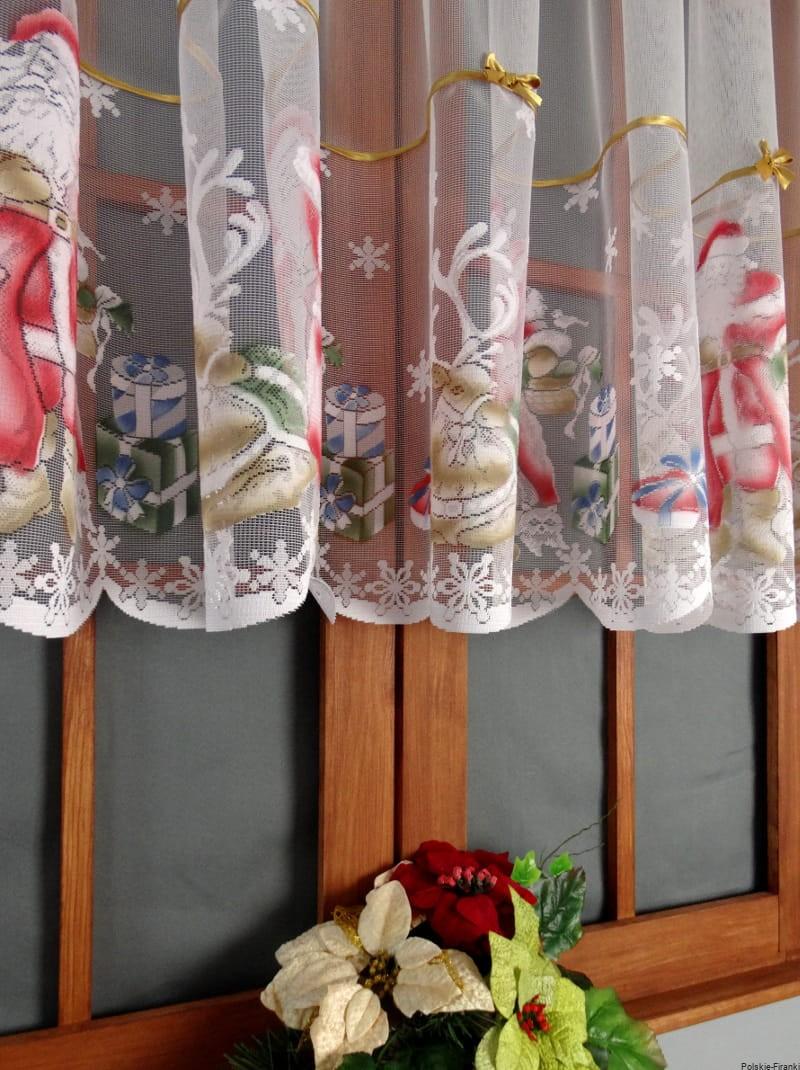 Firanka Firana świąteczna Mikołaj Boże Narodzenie 90x300